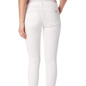 Hudson jeans Krista super skinny white jeans